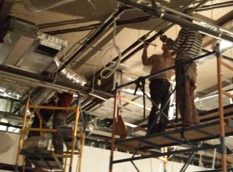 монтаж воздуховодов системы вентиляции в магазине, г Киев