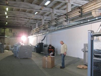 система вентиляции в печатном цеху типографии, г.Киев, Украина