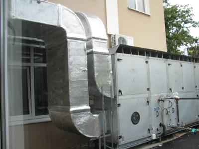 монтаж системы вентиляции в спортзале, г Киев