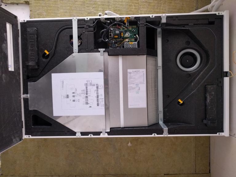 компоновка рекуператора SALDA системы вентиляции с увлажнением в квартире, г Киев