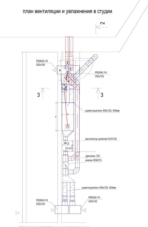 план системы вентиляции с увлажнением в квартире, г Киев