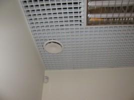 монтаж анемостата системы вентиляции в магазине, г Киев