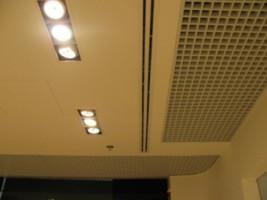 монтаж щелевого диффузора системы вентиляции в магазине, г Киев