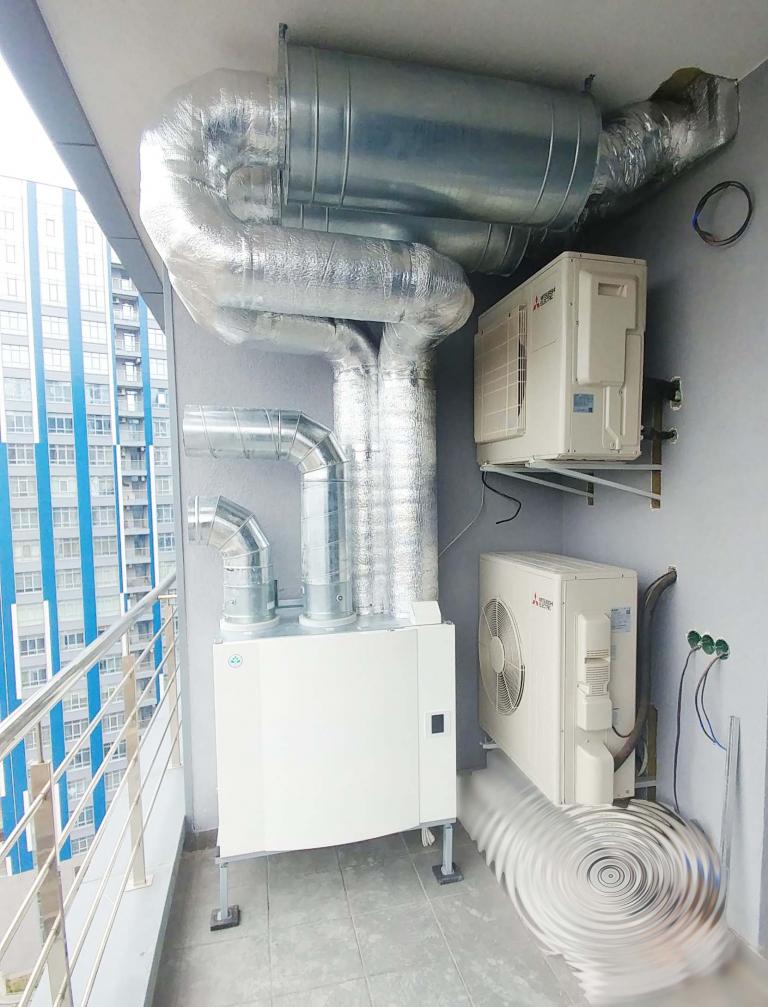 роторный рекуператор в квартире г.Киев