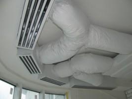 монтаж системы вентиляции в офисе, открытые потолки, г Киев