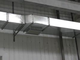 монтаж воздуховодов из оцинкованной стали производственного цеха, г.Бровары Украина