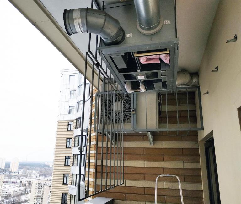 роторный рекуператор для вентиляции квартиры, г.Киев, Украина