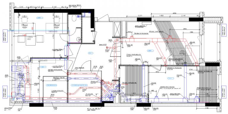 план системы вентиляции в офисе, г.Киев