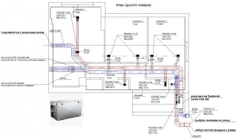 чертеж план системы вентиляции в квартире, г Киев