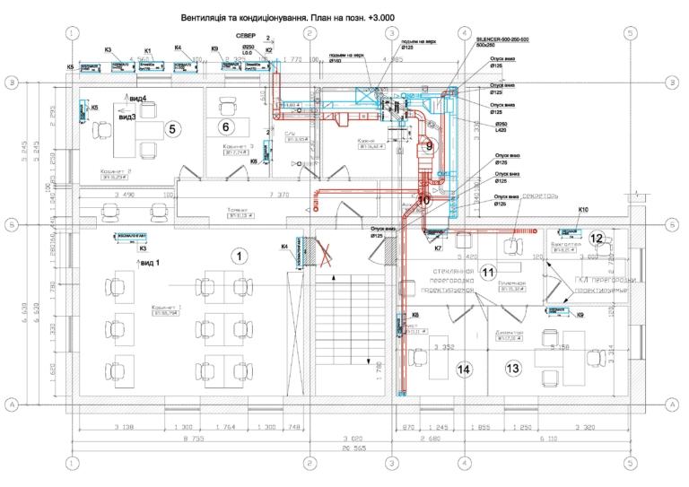 проект план системы вентиляции и кондиционирования в офисе, г Киев