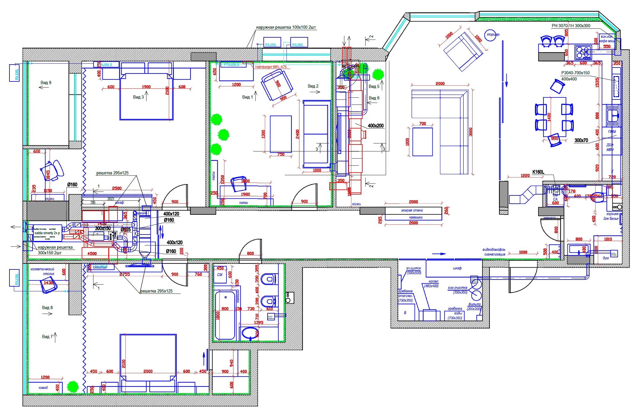 проект план системы вентиляции с увлажнением в квартире, г Киев