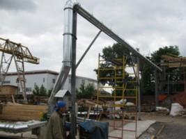 монтаж системы аспирации на деревообрабатывающем производстве, г.Киев, Украина