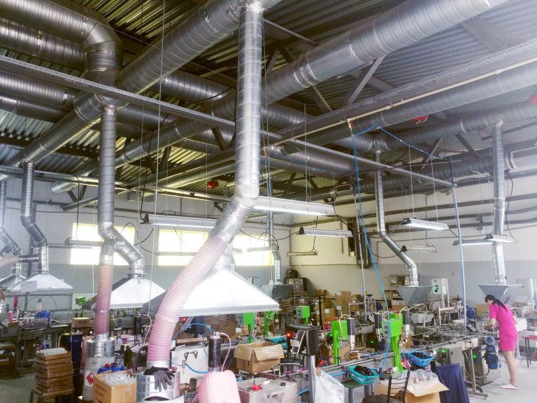 вентиляция производственного цеха, г.Бровары Украина