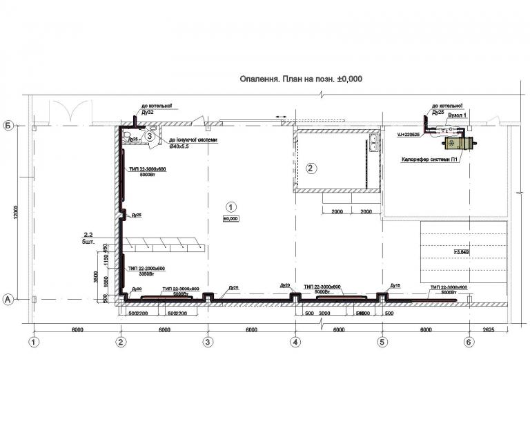 План приточной и вытяжной систем вентиляции в г.Бровары